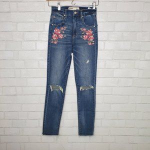 Garage Ultra High Rise Embroidered Jeans